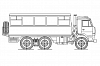 Вахтовый автобус НЕФАЗ-4208-24 на шасси КАМАЗ-5350-42 6x6