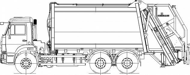 Мусоровоз с задней загрузкой КО-427-80