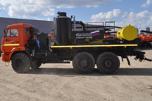 Агрегат для депарафинизации скважин АДПМ 12/150 УЗСТ 6891-10 на шасси КАМАЗ-43118