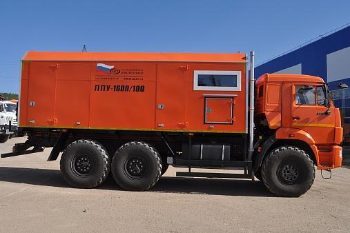 Паропромысловая установка ППУА 1600/100 УЗСТ 6890-01 на базе шасси КАМАЗ-43118