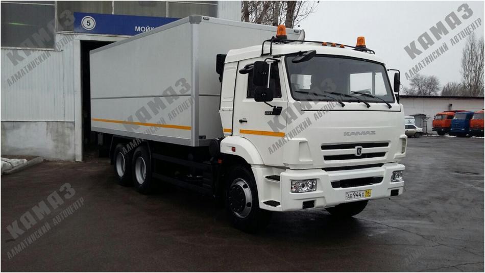 Автофургон для перевозки опасных грузов на шасси КАМАЗ 65115