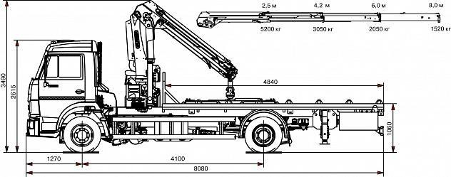 Эвакуатор 658625-0010-03 с КМУ Palfinger 13500T