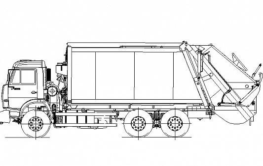 Мусоровоз с задней загрузкой КО-440В1