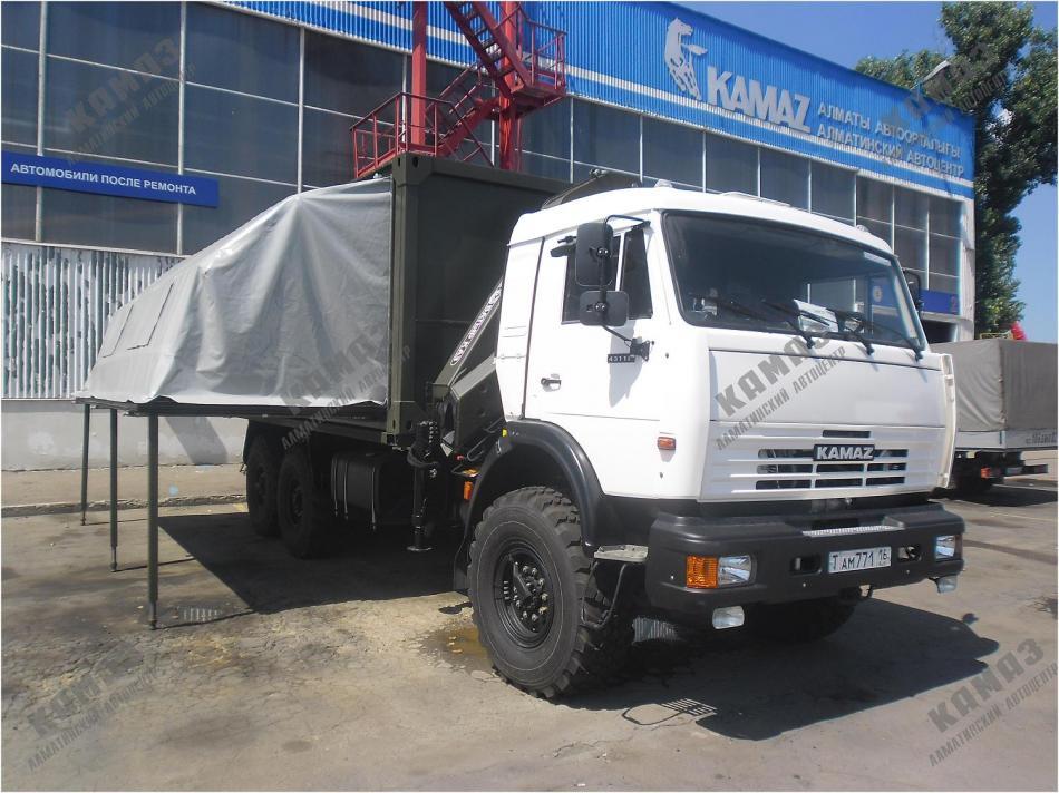 Кузов-контейнер переменного объема облегченного типа на шасси КАМАЗ 43118
