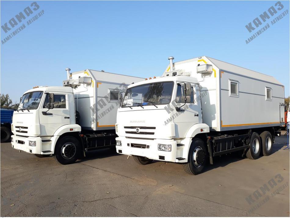 Фургон для размещения оборудования на шасси КАМАЗ 65115
