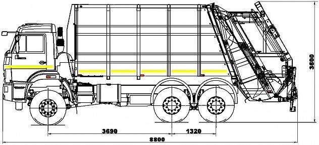 Мусоровоз с задней загрузкой 585190 (Zoeller Medium XL)