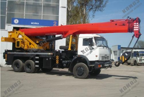 Кран стреловой Батыр КС-55713 на шасси КАМАЗ 65115