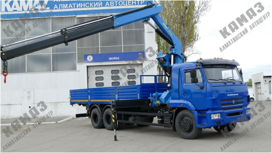Автомобиль КАМАЗ 65117 с крано-манипуляторной установкой ИМ-180