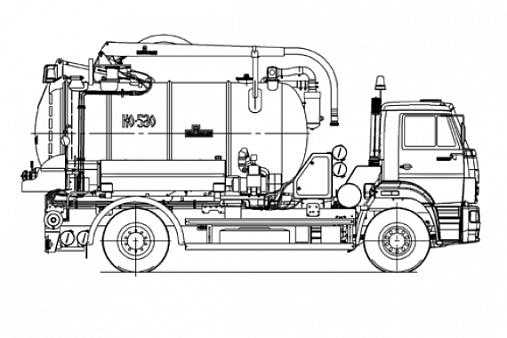 Машина илососная КО-530-25