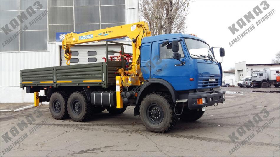 Автомобиль КАМАЗ 43118 с крано-манипуляторной установкой SOOSAN SCS-746 L