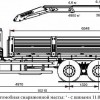 Бортовой автомобиль 6586-002-01 с КМУ PALFINGER PK 23500A на шасси КАМАЗ-65117