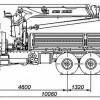 Бортовой автомобиль 65861-320-06 с КМУ PALFINGER INMAN IT-180 на шасси КАМАЗ-43118