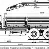 Бортовой автомобиль 6586-001-01 с КМУ PALFINGER PK 15500A на шасси КАМАЗ-65117